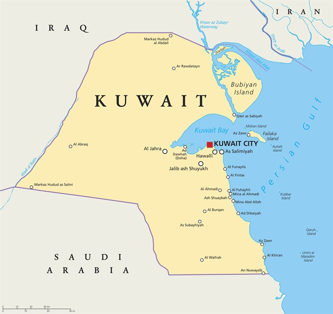 Map Of Kuwait I Stock -540504666